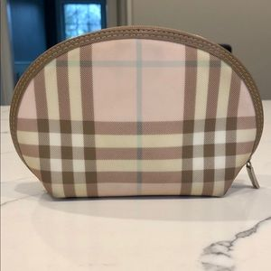 Authentic Burberry Pink Nova Check Cosmetic Case